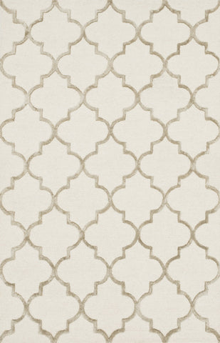 "Loloi Rugs - Panache - 3'-6"" X 5'-6"" - Ivory / Beige - Chachkies"