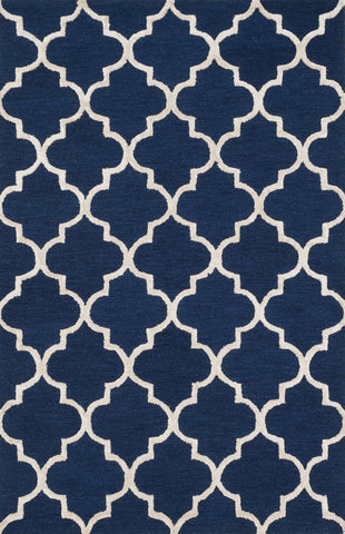 "Loloi Rugs - Panache - 5'-0"" X 7'-6"" - Navy / Silver - Chachkies"