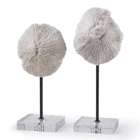 Regina Andrew Pair of Mushroom coral accessories - 2-6806 - Chachkies