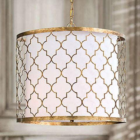 Regina Andrew Gold Patterned Pendant Chandelier - 405-176-GOLD - Chachkies