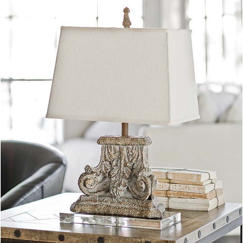 Regina Andrew Capitol Lamp on Crystal Base - 405-2107 - Chachkies