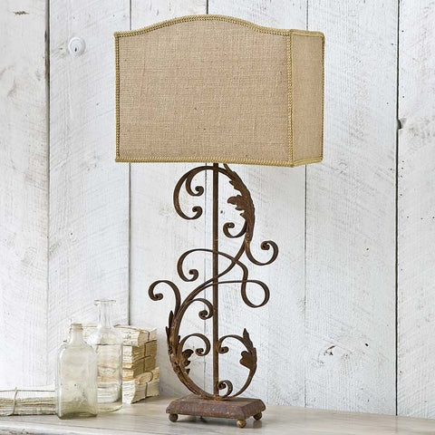 Regina Andrew Iron Scroll Lamp - 405-231 - Chachkies