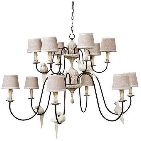Regina Andrew DISCONTINUED Two Tier Dove Chandelier - 405-587 - Chachkies