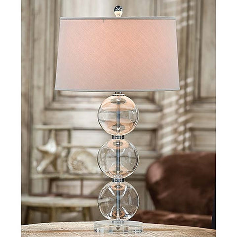 Regina Andrew Clear Glass Ball Lamp with Crystal Base - 405-605 - Chachkies