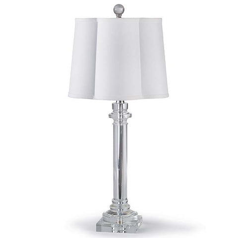 Regina Andrew Crystal Buffet Lamp with Scallop Shade - 405-868 - Chachkies