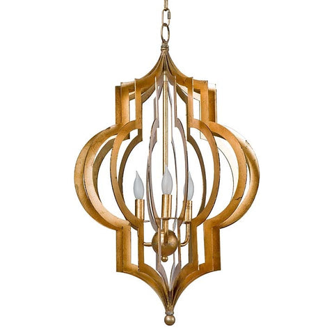 Regina Andrew Pattern Makers Gold Pendant Chandelier Large - 44-7365LRG - Chachkies