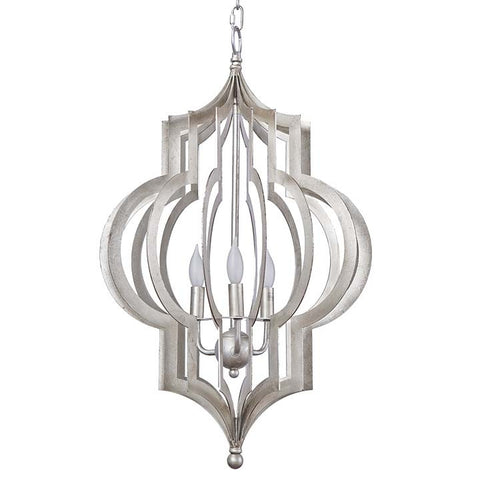Regina Andrew Pattern Makers Silver Pendant Chandelier Large - 44-7554LG - Chachkies
