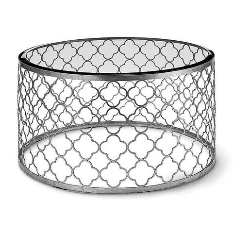 Regina Andrew Silver Mosaic Cocktail Coffee Table - 44-7857SIL - Chachkies