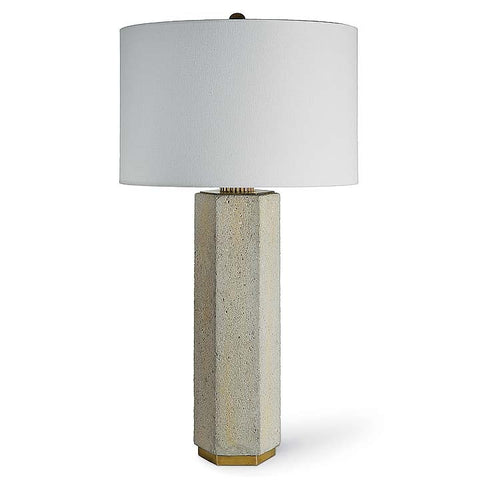 Regina Andrew Concrete and Brass Gear Lamp - 44-8594 - Chachkies