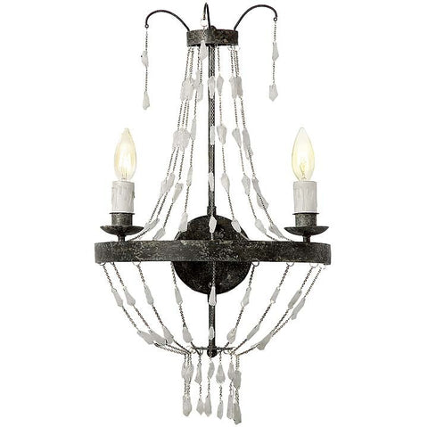 Regina Andrew Rock Crystal Wall Sconce - 44-8995 - Chachkies