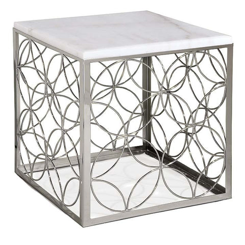Regina Andrew Polished Nickel Cube Table - 5-580 - Chachkies
