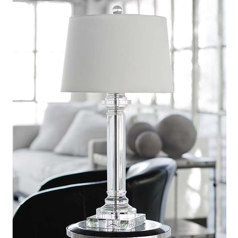 Regina Andrew Classic Crystal Column Lamp - 505-1065 - Chachkies