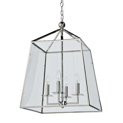Regina Andrew Metal and Glass Lantern - 505-1105 - Chachkies