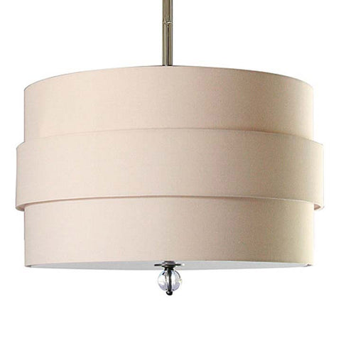 Regina Andrew Large Orbit Shade Nickel Pendant Chandelier - 505-213ORBN - Chachkies