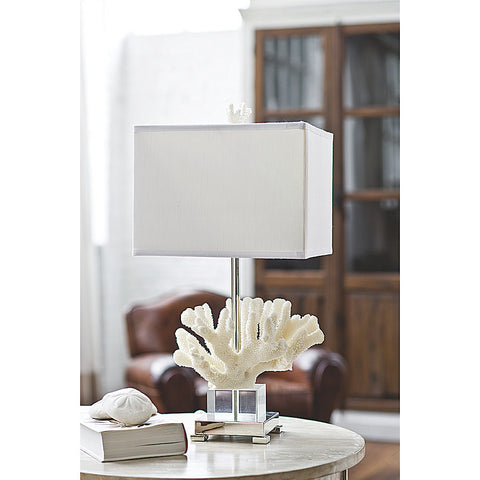 Regina Andrew Coral & Crystal on Chrome Base Lamp - 522-849 - Chachkies