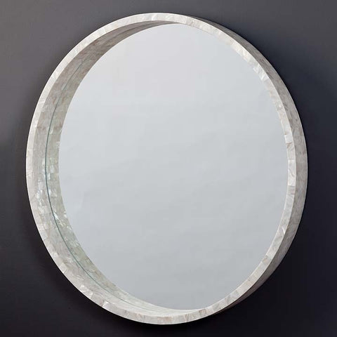 Regina Andrew Large Mother of Pearl Mirror - 55-7384 - Chachkies