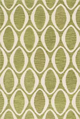 "Loloi Rugs - Taylor - 5'-0"" X 7'-6"" - Lime / Ivory - Chachkies"