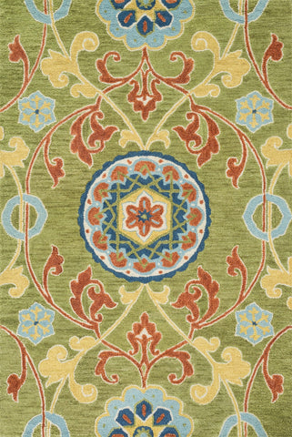 "Loloi Rugs - Taylor - 5'-0"" X 7'-6"" - Lime / Multi - Chachkies"
