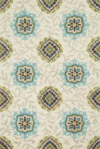 "Loloi Rugs - Taylor - 5'-0"" X 7'-6"" - Ivory / Spa - Chachkies"