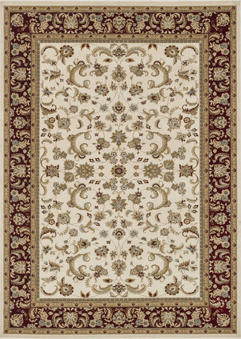 "Loloi Rugs - Welbourne - 9'-2"" X 12'-7"" - Ivory / Red - Chachkies"