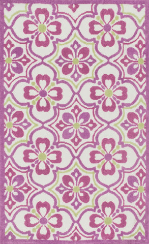 "Loloi Rugs - Zoey - 5'-0"" X 7'-0"" - Purple / Green - Chachkies"