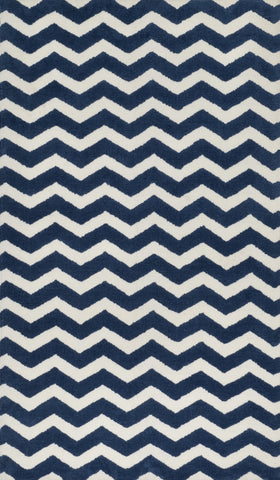 "Loloi Rugs - Zoey - 5'-0"" X 7'-0"" - Navy - Chachkies"