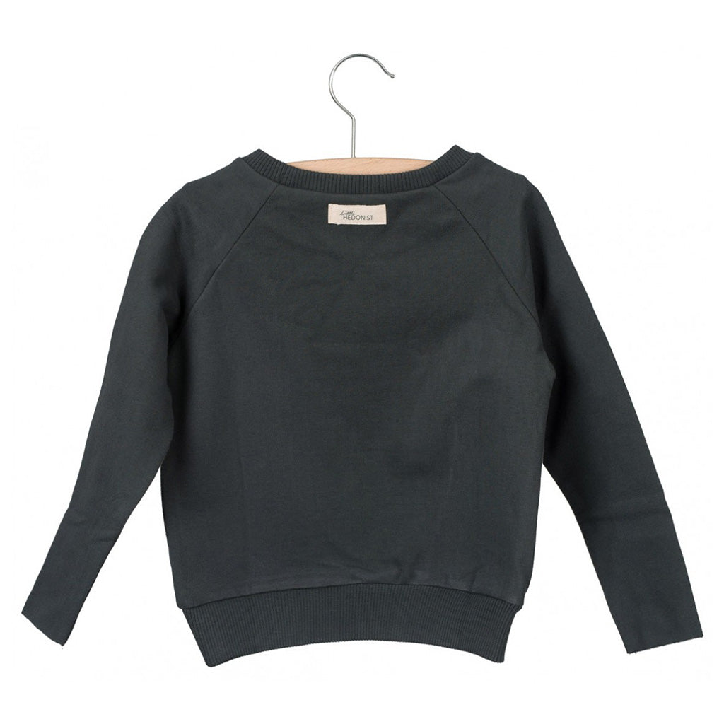 Sweater Caecilia Print Pirate Black