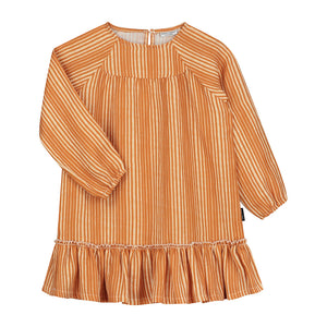 Dress Ava Linen Ruffle Oversized Canyon Clay