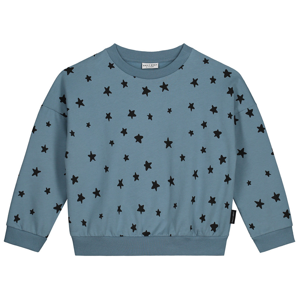 Sweater Star Oversized Soft Blue