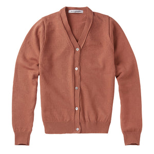 Cardigan Cashmere Mid Brown