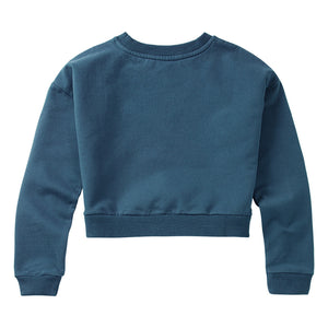 Sweater Cropped Teal Blue