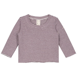 Long Sleeve Tee Baby Plum White Stripes