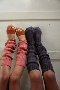 Leg Warmers Grey Melange