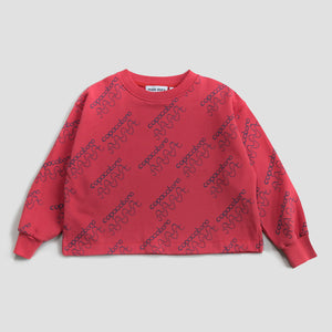Sweatshirt Cropped Cranberry Copacabana