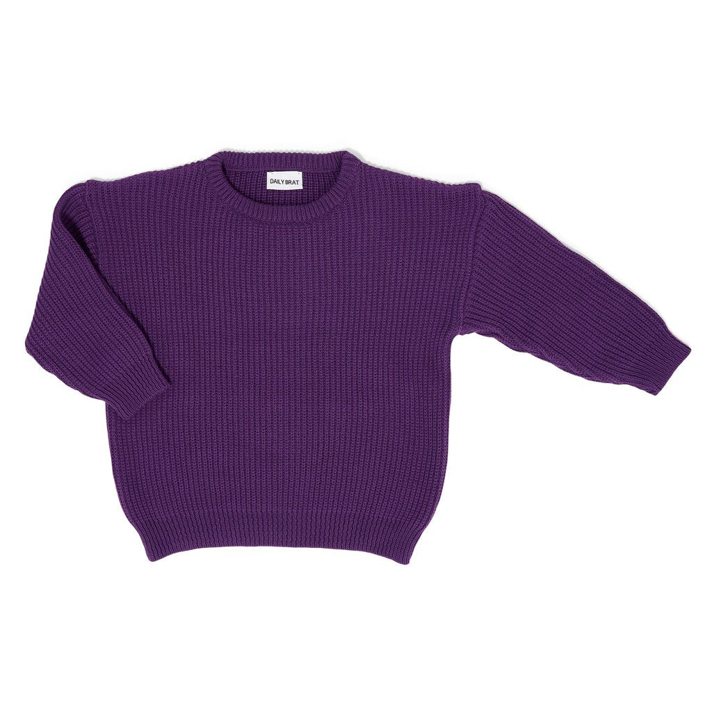 Sweater Austin Oversized Knitted Bright Violet