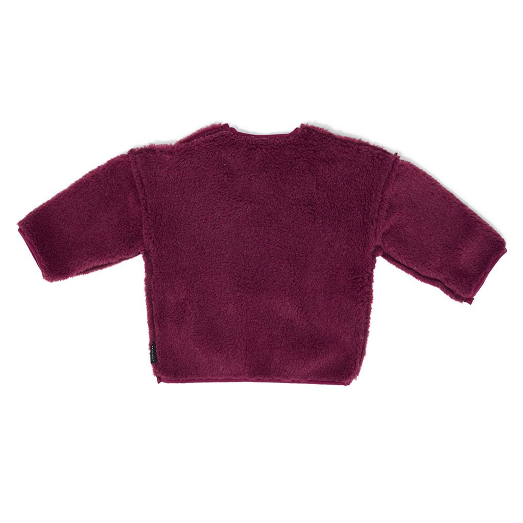 Sweater Oversized Teddy Mulberry