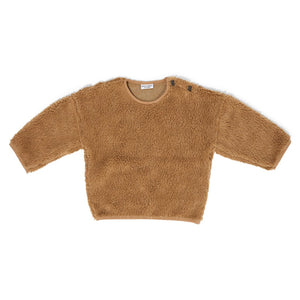 Sweater Teddy Oversized Camel