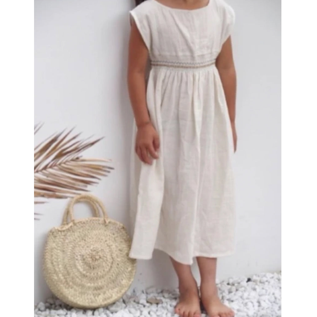 Dress Smock Cru Natural