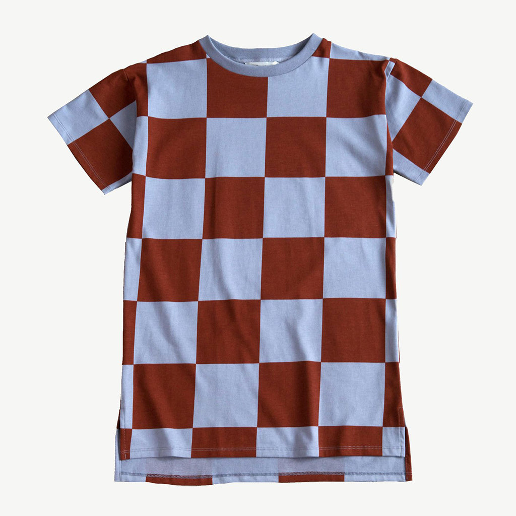 Dress Tee Oversized Steel Check