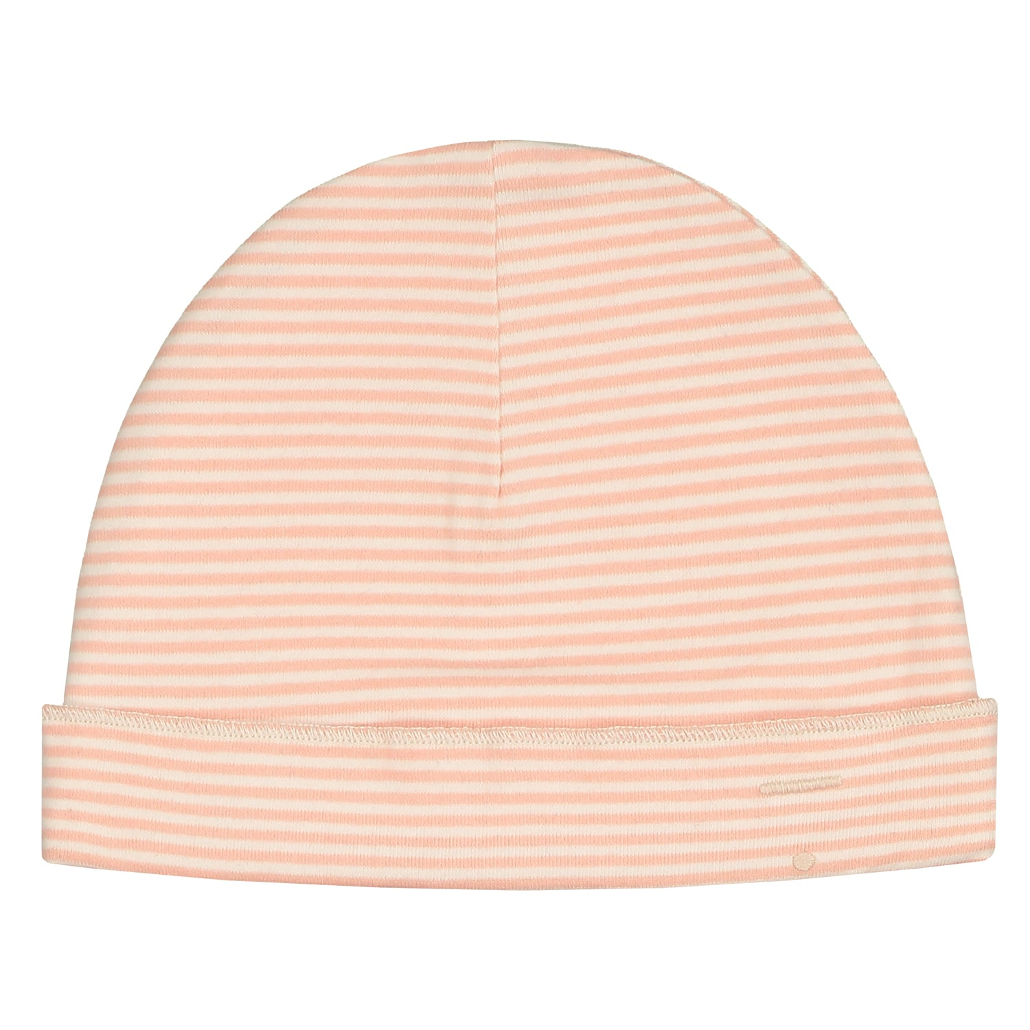Baby Beanie Pop/Cream Striped