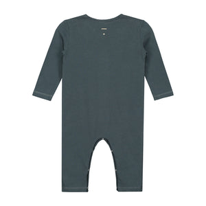 Playsuit Long Sleeve Baby Blue Grey