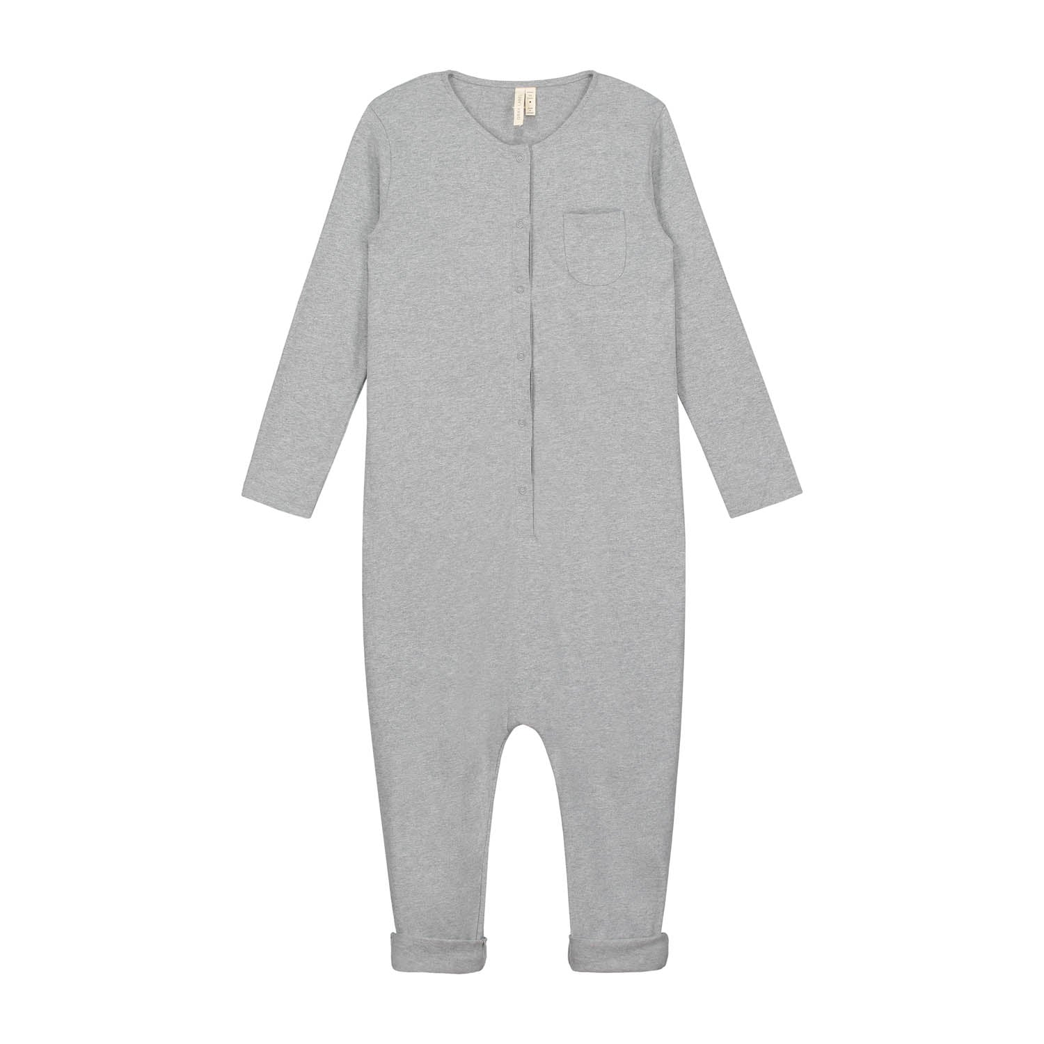 Playsuit Long Sleeve Grey Melange