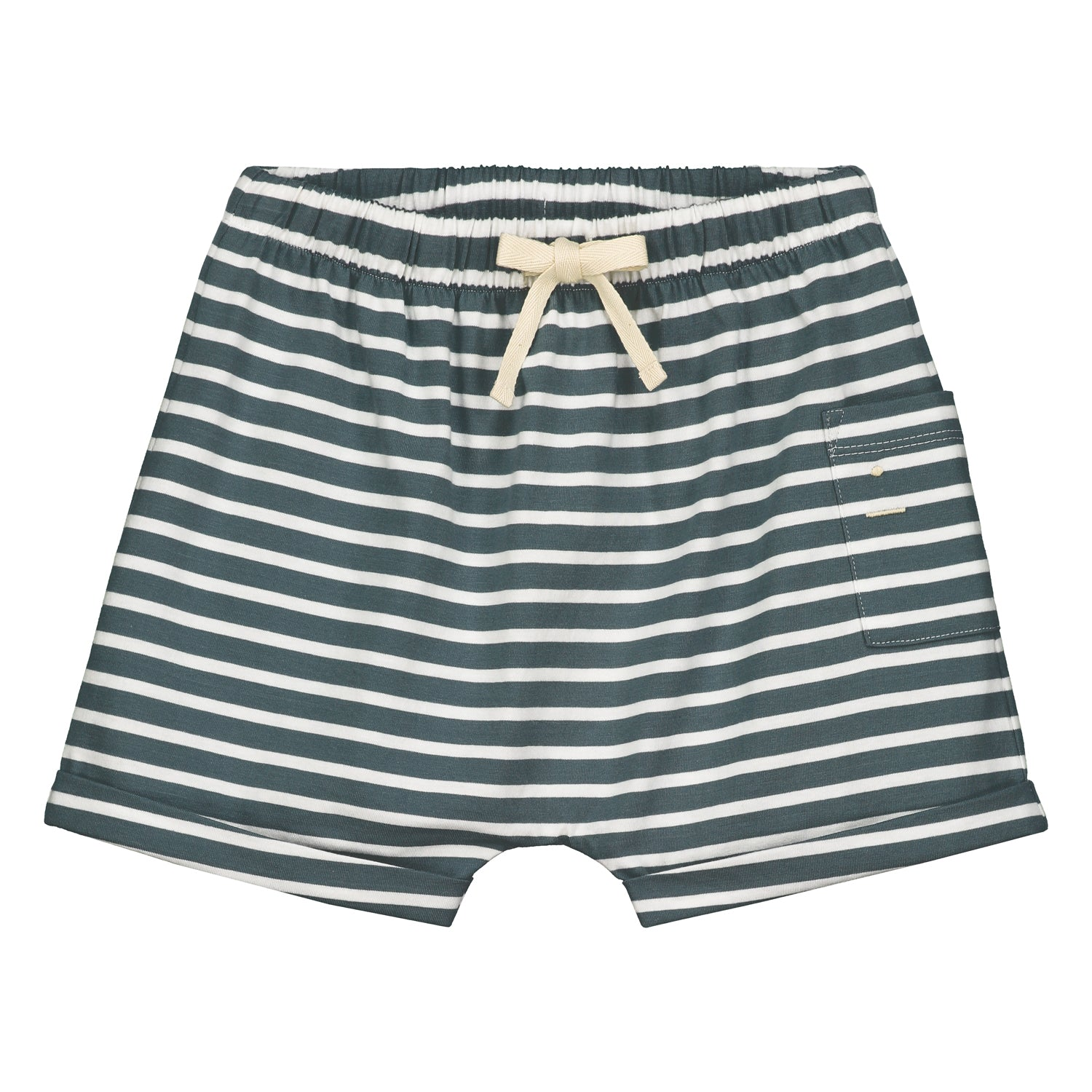 Short One Pocket Blue Grey White Striped