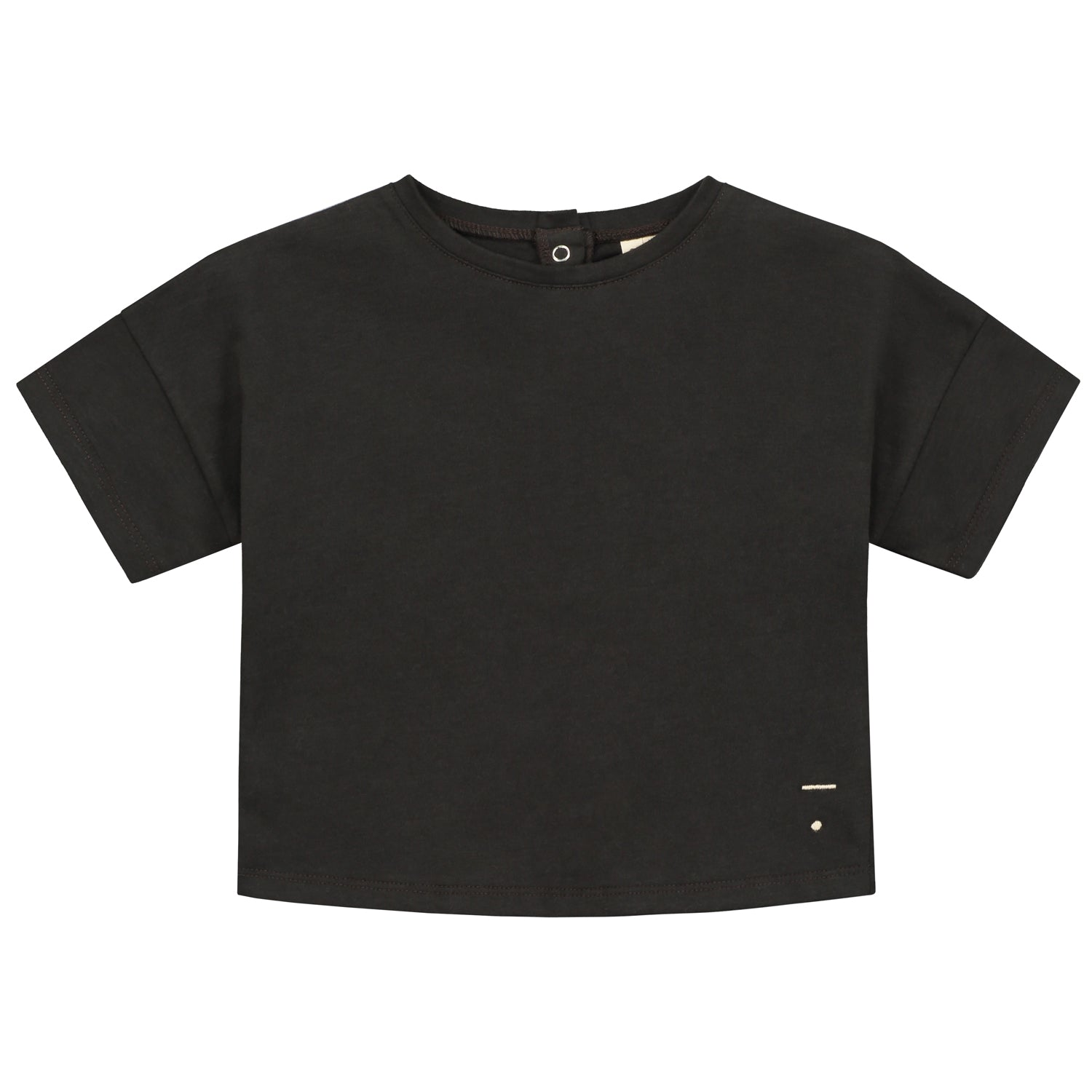 Tee Oversized Cropped Nearly Black