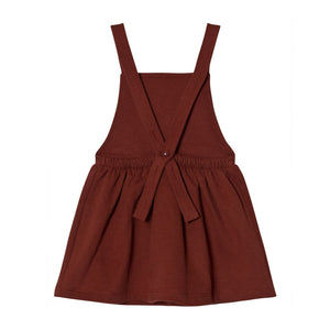 Dress Pinafore Burgundy