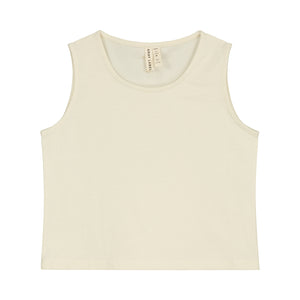 Tank Top Cropped Cream
