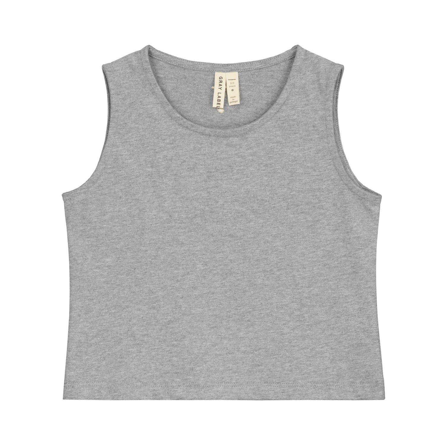 Tank Top Cropped Grey Melange