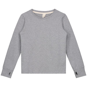 Long Sleeve With Thumbhole Grey Melange