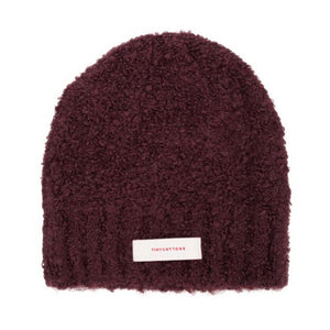 Hat Fluffy Burgundy