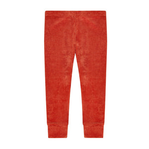 Legging Velvet Rib Red Wood